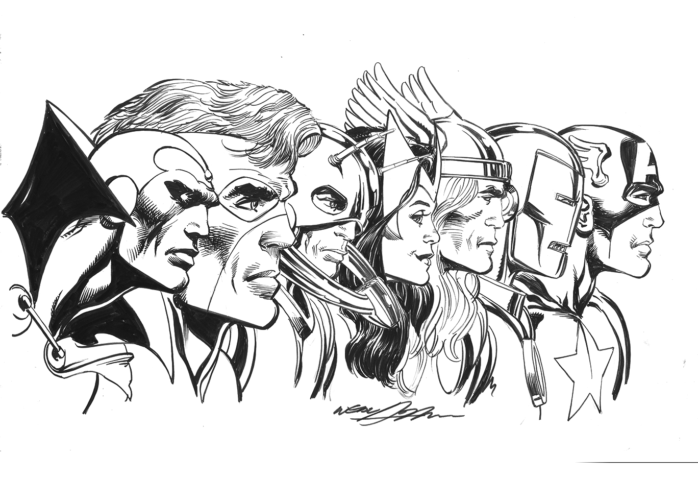 Marbel Imagenes Para Colorear: Avengers Print