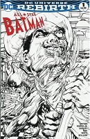 All Star Batman #1 DC Universe Rebirth Black and White Variant Signed by Neal Adams