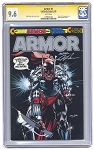 Armor #1 comic Silver Logo by Continuity Comics Signed - CGC 9.6
