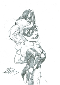 Harley Quinn Pencil Illustration2