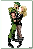 13x19 Print - Green Arrow Embrace - Signed
