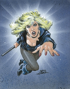 Black Canary Leap - Color Original