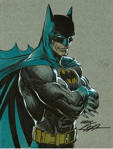 Batman - Power Stance Color Illustration