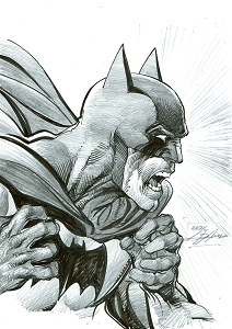 Batman Pencil and Ink Illustration - Wrath