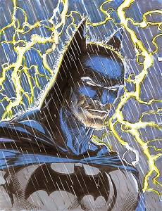 Batman Lightning - Original Color Art
