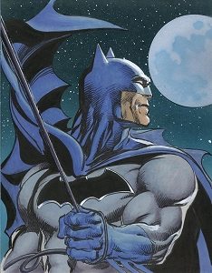 Batman Color Illustration - Blue Moon