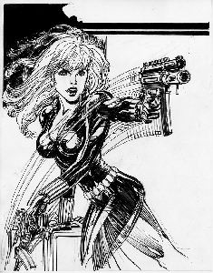 Black Widow Ink Illustration