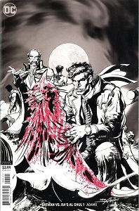 Batman VS Ras Al Ghul #1 Black and White Cover Variant with Red Stamp (Ltd to 100) - Signed by Neal Adams