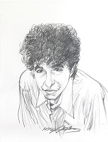 Bob Dylan Pencil Portrait