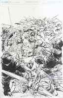 Civil War 001 Variant Cover Original Art by Neal Adams