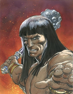 SOLD   Conan Burning Rage - Color Original  SOLD