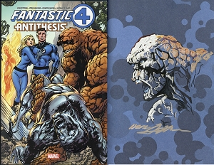 Fantastic Four: Antithesis Treasury Edition SIGNED with Thing Drawing Inside