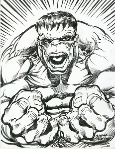 Hulk - Flex - Original Art