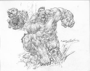 Hulk Rock - Original Pencil Illustration