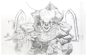 IT - Pennywise Pencil Print 13