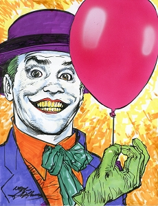 Joker Balloon - Jack - Original Art