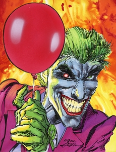 Joker Balloon - Adams - Original Art
