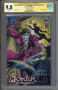 80th Anniversary Joker Neal Adams Exclusive CGCed 9.8