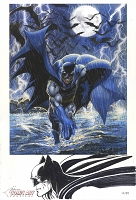 Batman Lake Como Limited Edition Giclee with Large Sketch - Ltd 20