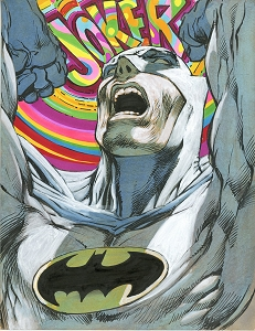 Batman Psychodelic  - Original Color Art