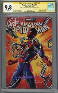 Amazing Spider-Man #49 (Neal Adams Tribute) Cover RED signed by Horn and Adams