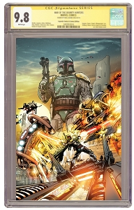 Pre-Order Excusive! Star Wars: War of the Bounty Hunters #1 Virgin Cover Signed and CGCed 9.8 Guarantee