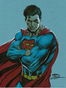 Superman - Power Stance Color Illustration