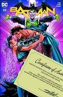 SDCC Exclusive: Batman #50 Signed  Variant Color Cover w/Hologram COA