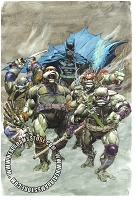 Batman Teeenage Mutant Ninja Turtles Painted Cover by Neal Adams