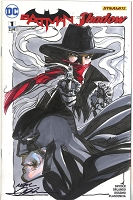 Batman / The Shadow Color Sketch Cover original art