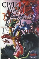 Civil War II - Cover by Neal Adams - Signed  with a Captain America Sketch