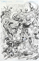 The Defenders #1 Variant Cover Original Art