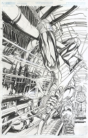 Green Arrow #12 Cover - Published Cover Penciled and Inked By Neal