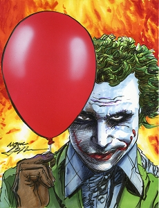 Joker Balloon - Heath - Original Art