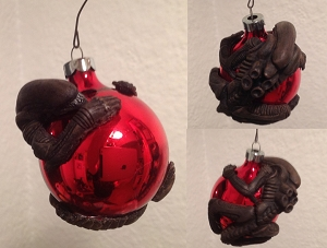 Alien Christmas Ornament - Hand Painted