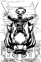 Black Panther Cover original art
