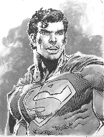 Superman Ink Wash - Rare