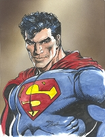 SOLD Superman Water Color SOLD