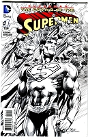 Superman: The Coming of the Supermen #1 B/W Variant Cover- Signed by Neal Adams