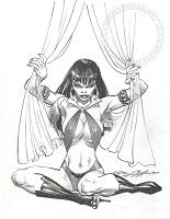 Vampirella Pencil and Ink drawing