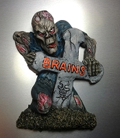 Zombie Refrigerator Magnet - Hand Painted
