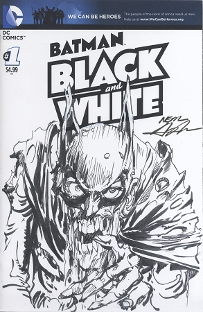 Batman black and white 1 blank with original neal adams zombie batman sketch