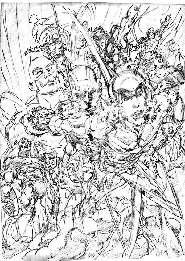 Avengers Finale Cover Layout