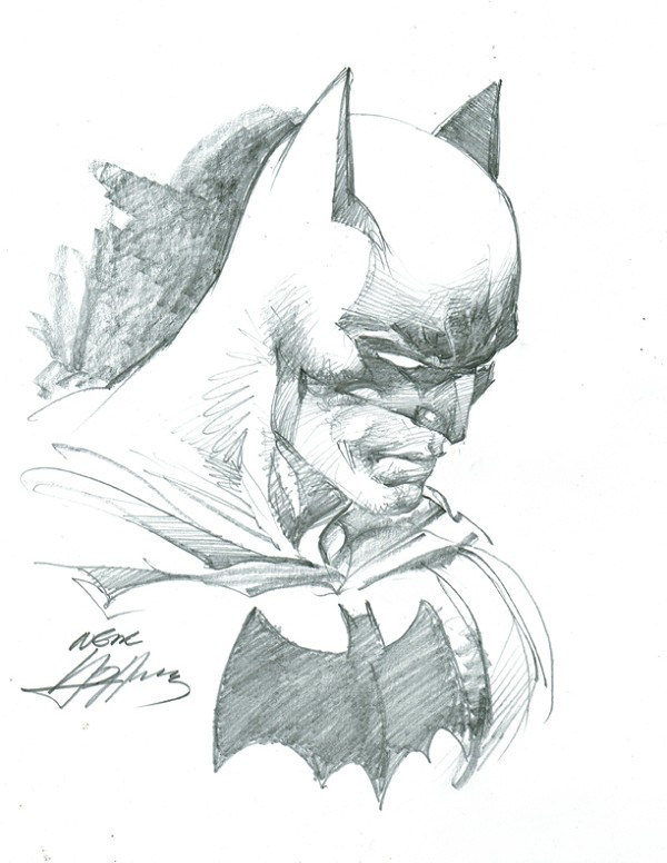 SOLD Batman Pencil Illustration