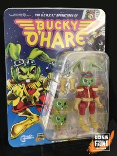 Bucky O'Hare Action Figure by Boss Fight Studio Signed by Neal