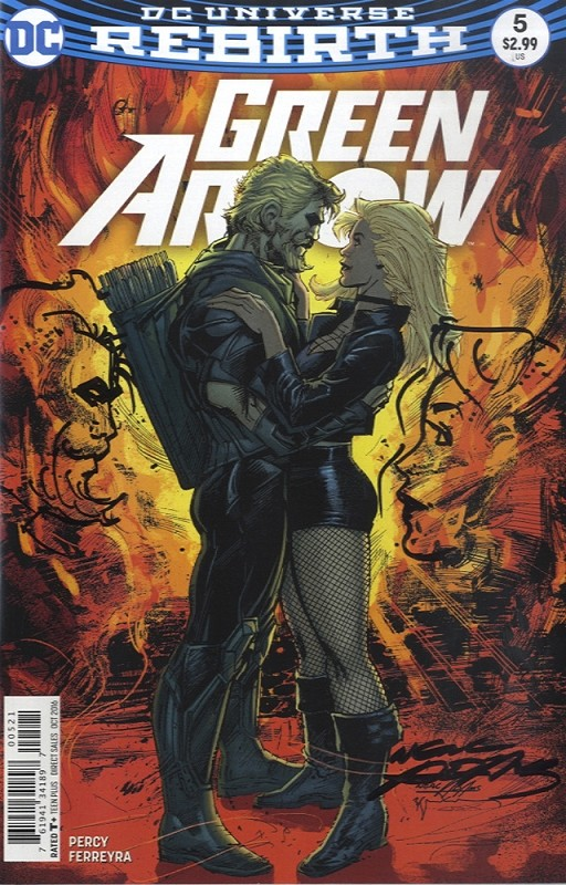 Green Arrow Rebirth #5 Signed with Remarque