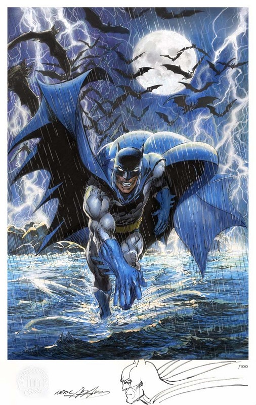 Neal Adams Premiere Limited Edition Batman Giclee w/Remarque
