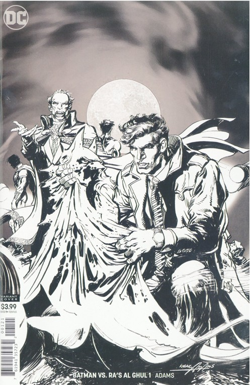Batman VS Ras Al Ghul #1 Black and White Cover Variant - Signed by Neal Adams