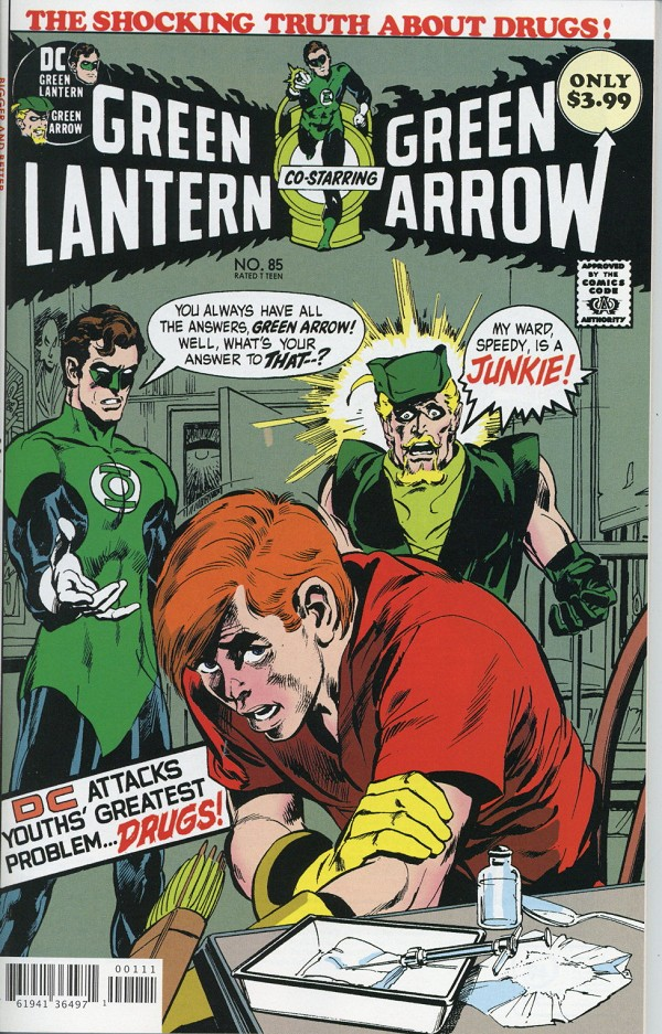 Green Lantern Green Arrow #85 Facsimile - Signed by Neal Adams