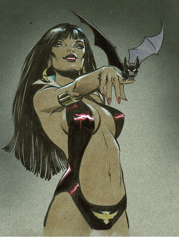 SOLD- Vampirella -Classic Color Illustration